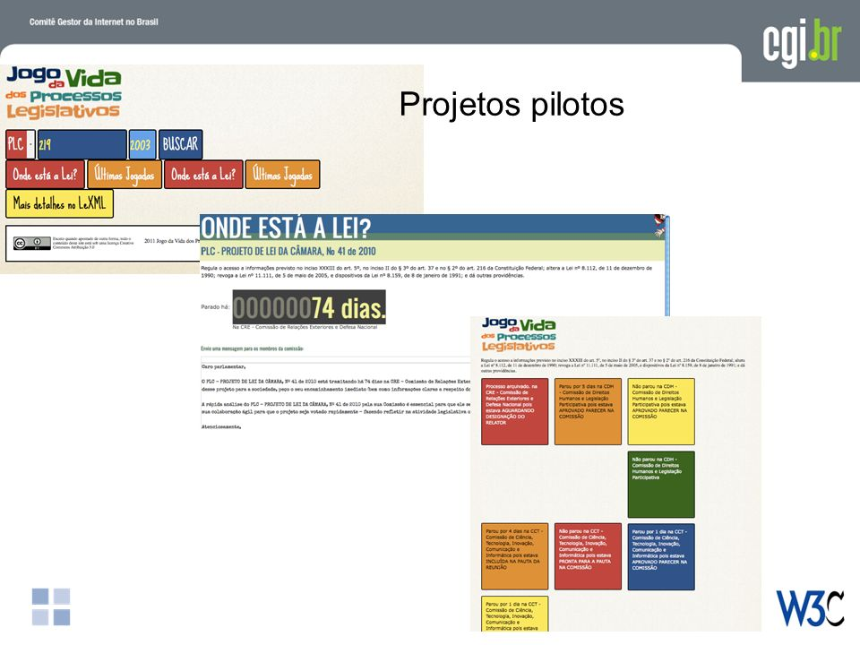 Projetos pilotos