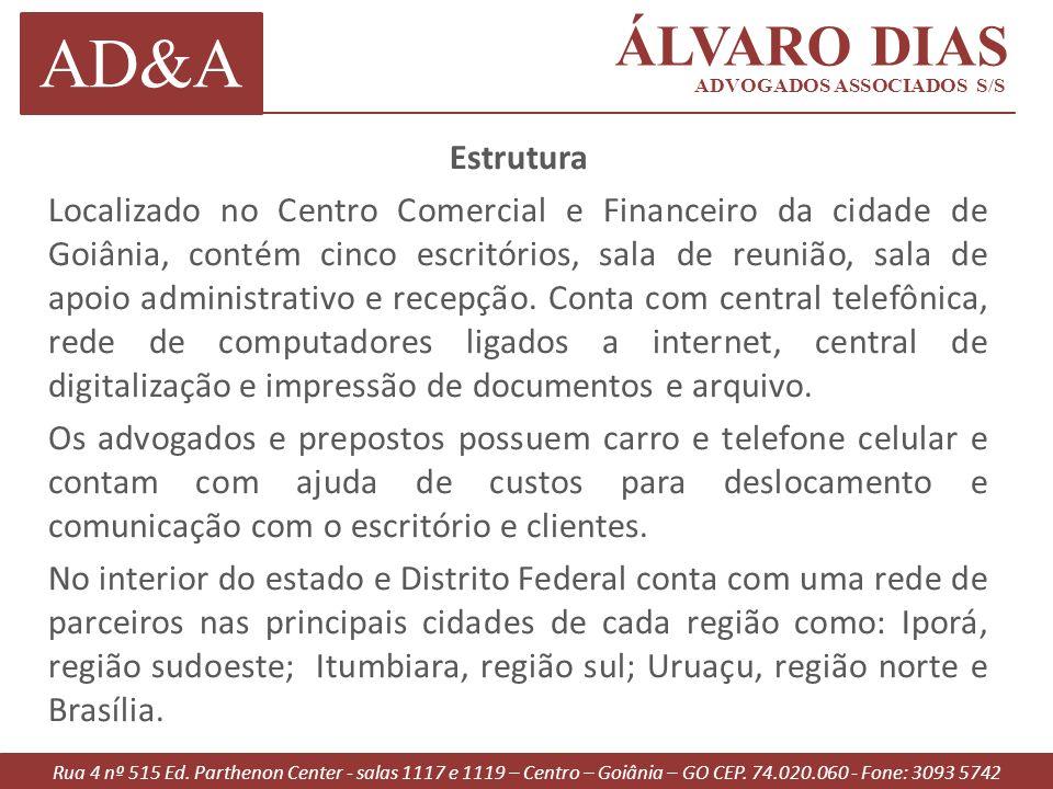 Rua 4 nº 515 Ed.Parthenon Center - salas 1117 e 1119 – Centro – Goiânia – GO CEP.