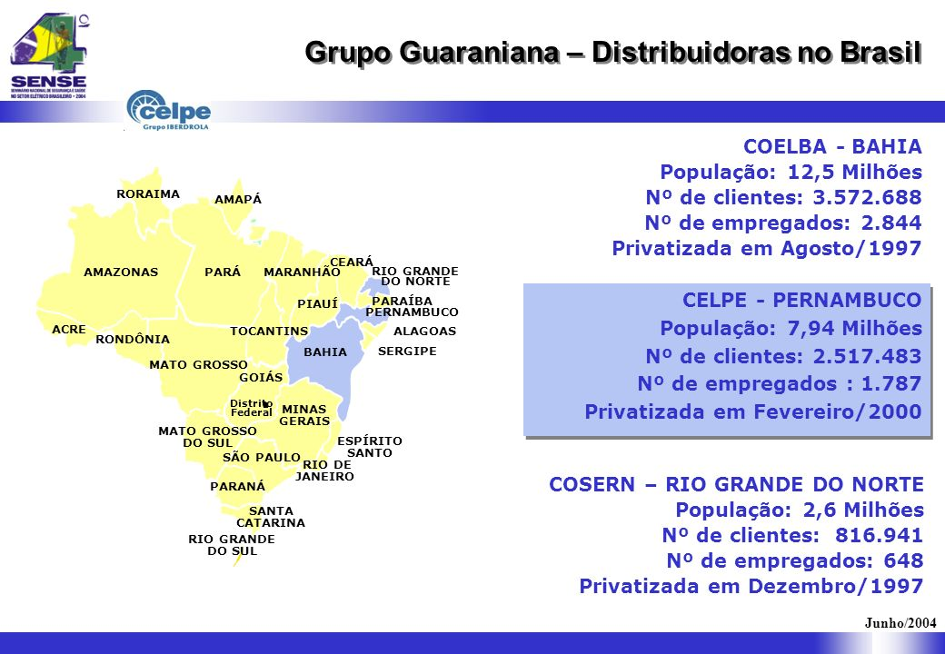 AMAZONAS RORAIMA PARÁ MATO GROSSO BAHIA MINAS GERAIS MARANHÃO PIAUÍ CEARÁ RIO GRANDE DO NORTE ALAGOAS SERGIPE GOIÁS MATO GROSSO DO SUL TOCANTINS ACRE