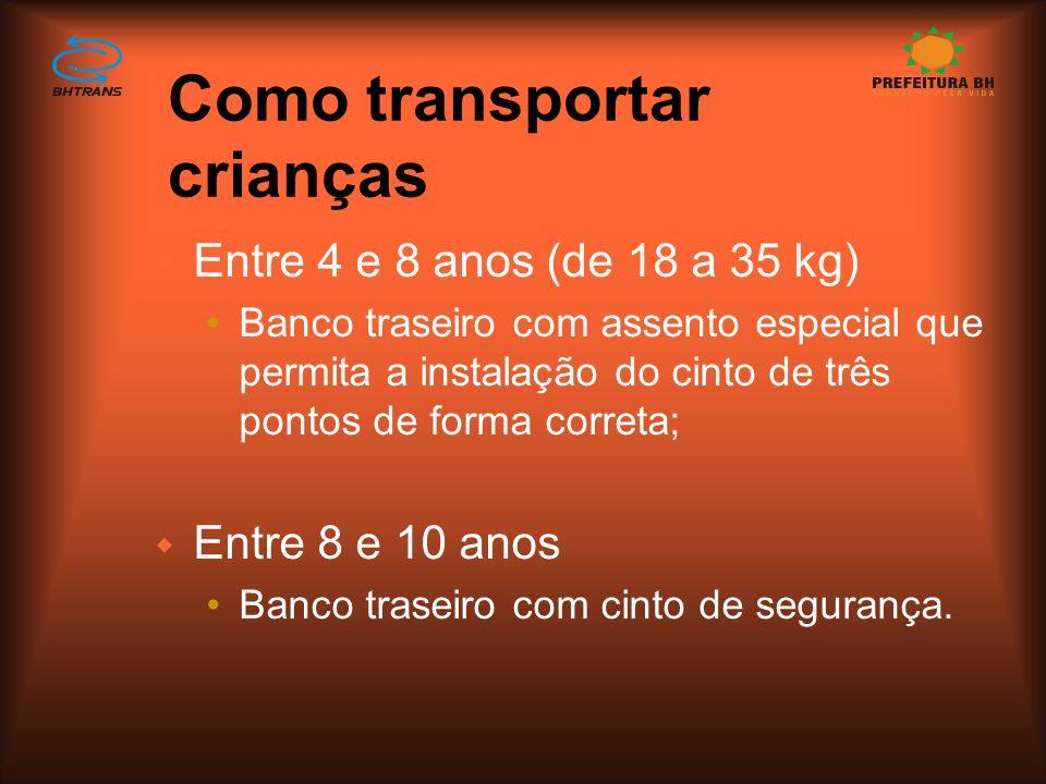 Como transportar crianças w De 0 a 1 ano (até 9kg): Cadeira própria para a idade, fixa no banco de trás com a face da criança voltada para o para-bris