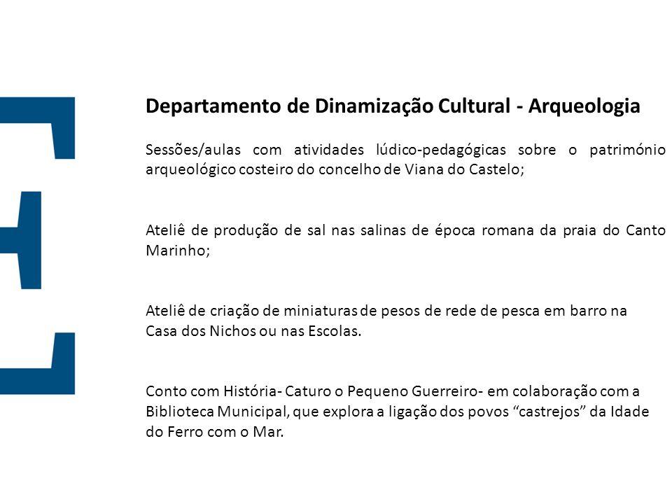 Departamento de Dinamização Cultural - Arqueologia Sessões/aulas com atividades lúdico-pedagógicas sobre o património arqueológico costeiro do concelh