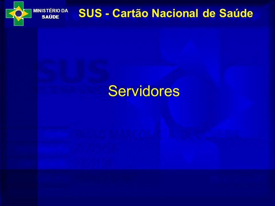 MINISTÉRIO DA SAÚDE SUS - Cartão Nacional de Saúde Servidores