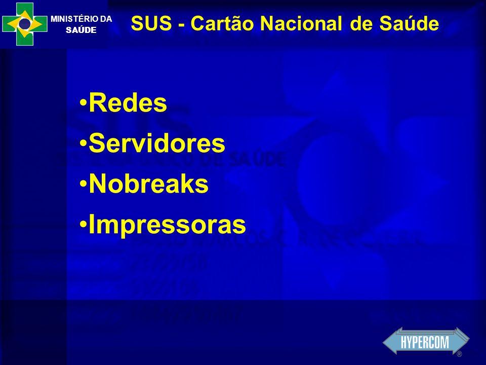 MINISTÉRIO DA SAÚDE SUS - Cartão Nacional de Saúde Redes Servidores Nobreaks Impressoras