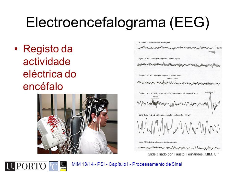 Ritmo cardíaco MIM 13/14 - PSI - Capítulo I - Processamento de Sinal Slide criado por Fausto Fernandes, MIM, UP