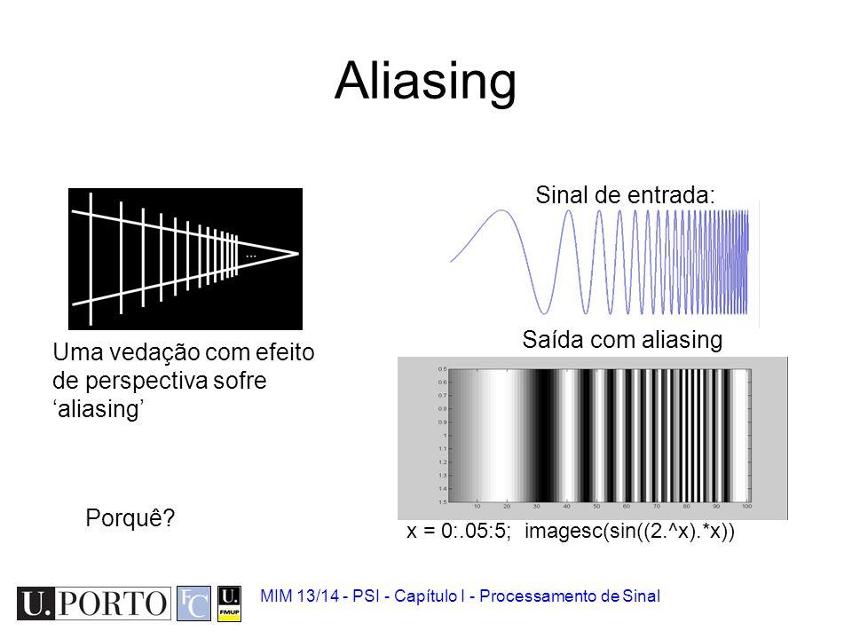Exemplo: Telefone A taxa de amostragem é de 8 kHz (8000 amostras/segundo). Frequência máxima de som? –Segundo Nyquist: 8kHz/2 = 4 kHz Som –Frequências