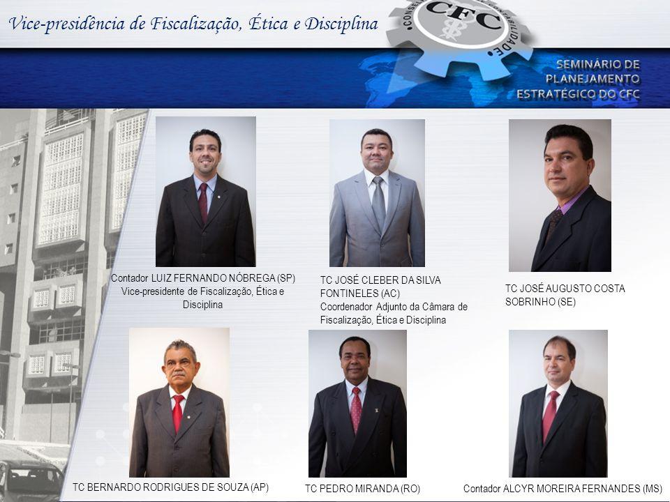 Vice-presidência de Fiscalização, Ética e Disciplina Contador LUIZ FERNANDO NÓBREGA (SP) Vice-presidente de Fiscalização, Ética e Disciplina TC JOSÉ C