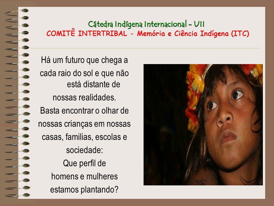 Cátedra Indígena Internacional - UII Cátedra Indígena Internacional - UII COMITÊ INTERTRIBAL - Memória e Ciência Indígena (ITC) Há um futuro que chega