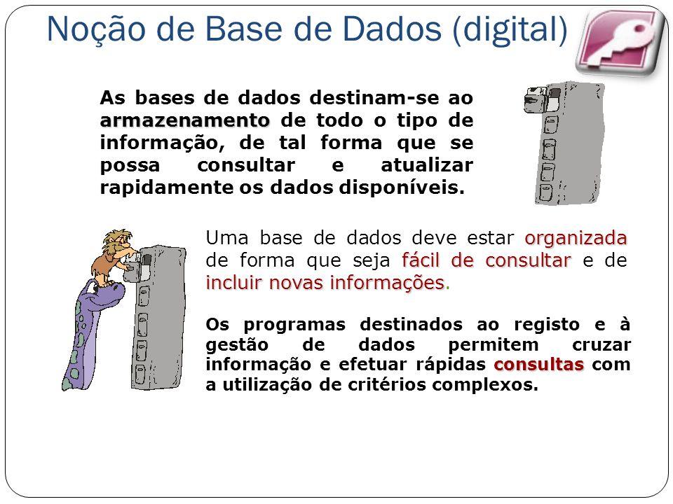 armazenamento As bases de dados destinam-se ao armazenamento de todo o tipo de informação, de tal forma que se possa consultar e atualizar rapidamente os dados disponíveis.