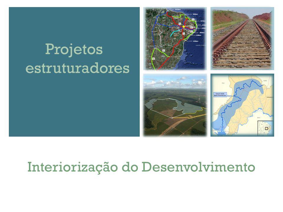 Interiorização do Desenvolvimento Projetos estruturadores