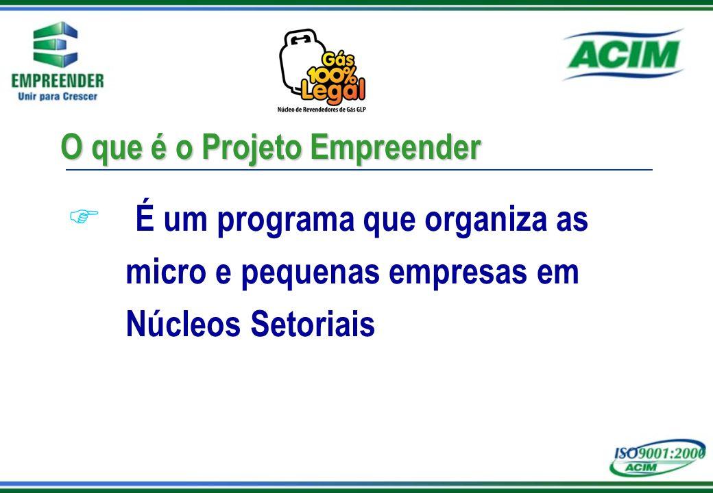 O que é o Projeto Empreender F É um programa que organiza as micro e pequenas empresas em Núcleos Setoriais