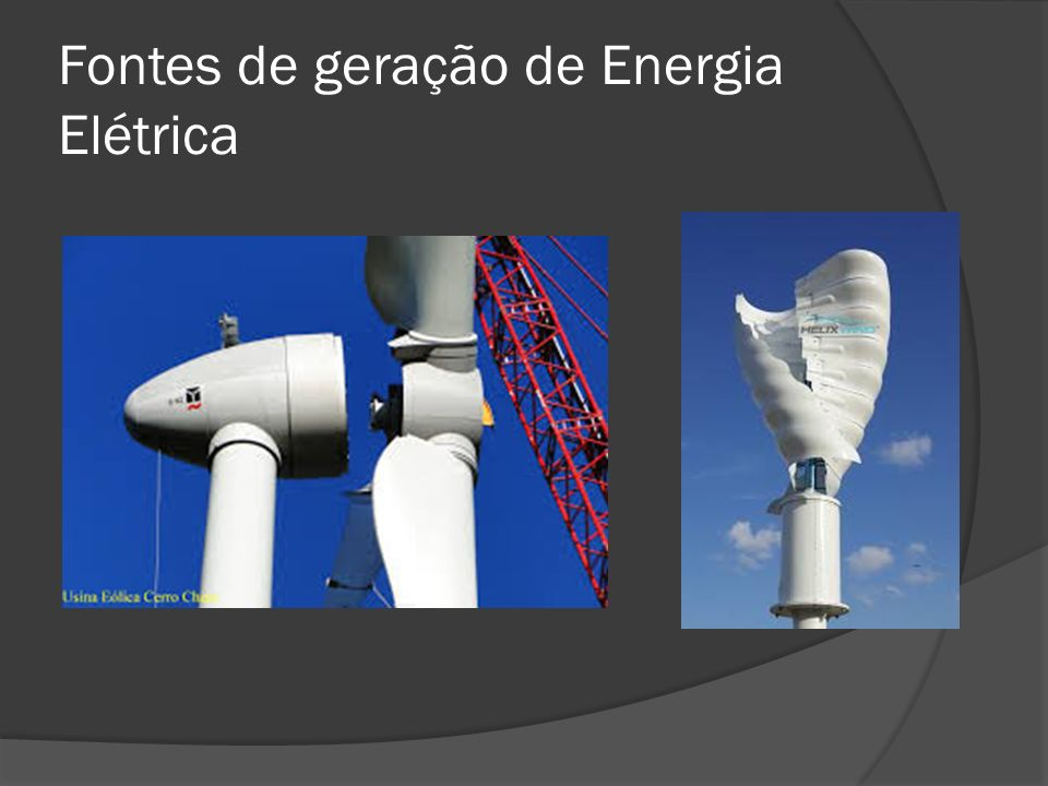 Fontes de geração de Energia Elétrica