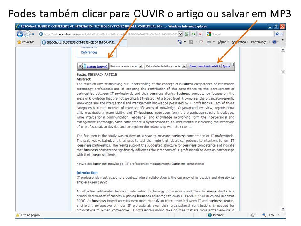 Podes também clicar para OUVIR o artigo ou salvar em MP3
