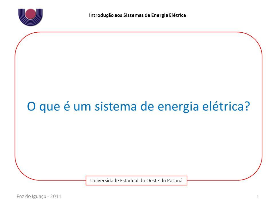 Universidade Estadual do Oeste do Paraná Introdução aos Sistemas de Energia Elétrica Foz do Iguaçu - 2011 3 TransmissãoSubtransmissãoDistribuição Transmissão