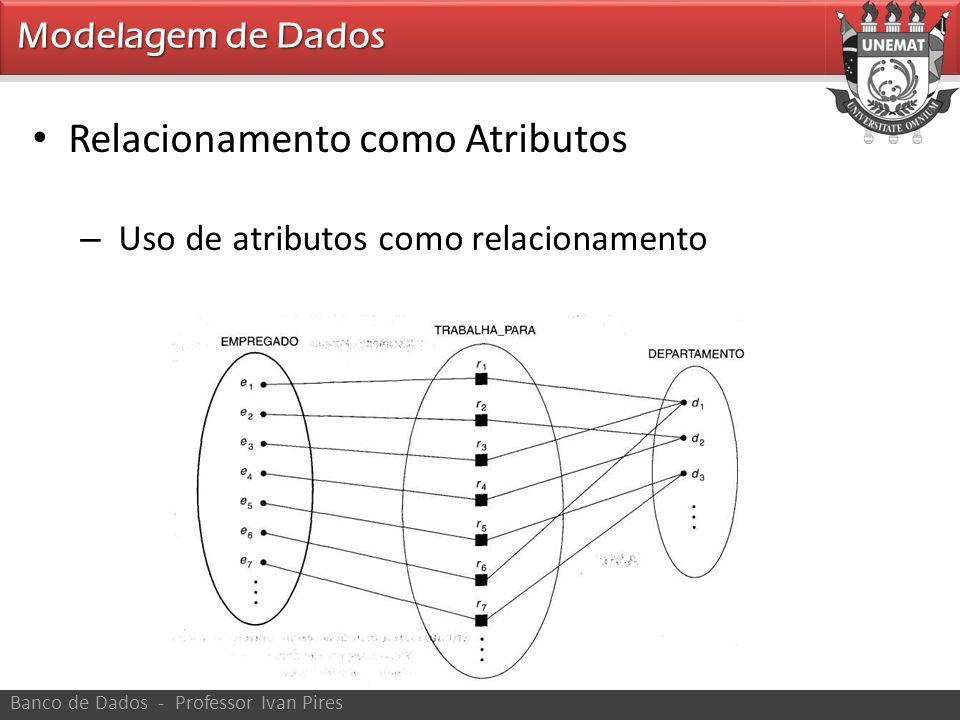 Modelagem de Dados Banco de Dados - Professor Ivan Pires Relacionamento como Atributos – Uso de atributos como relacionamento
