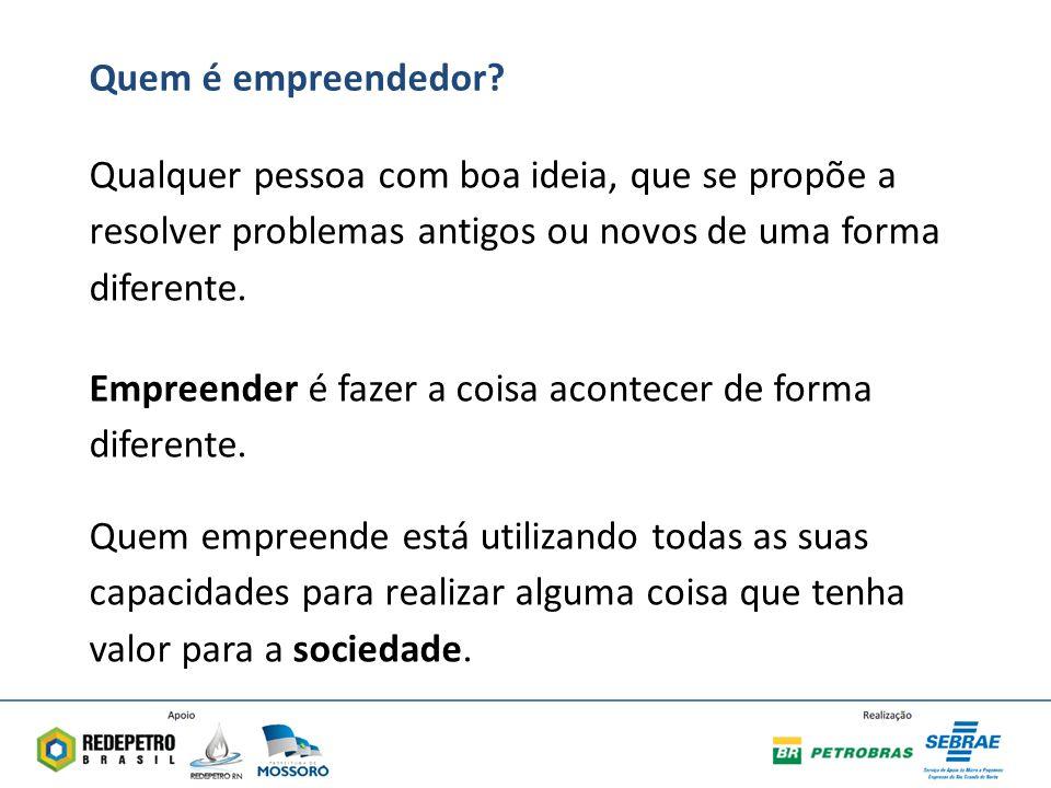 Quem é empreendedor.