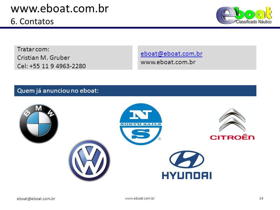 www.eboat.com.br 6. Contatos Tratar com: Cristian M.