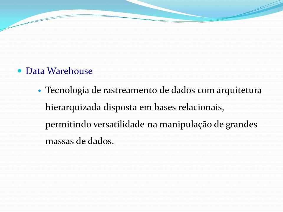 Data Warehouse Tecnologia de rastreamento de dados com arquitetura hierarquizada disposta em bases relacionais, permitindo versatilidade na manipulaçã