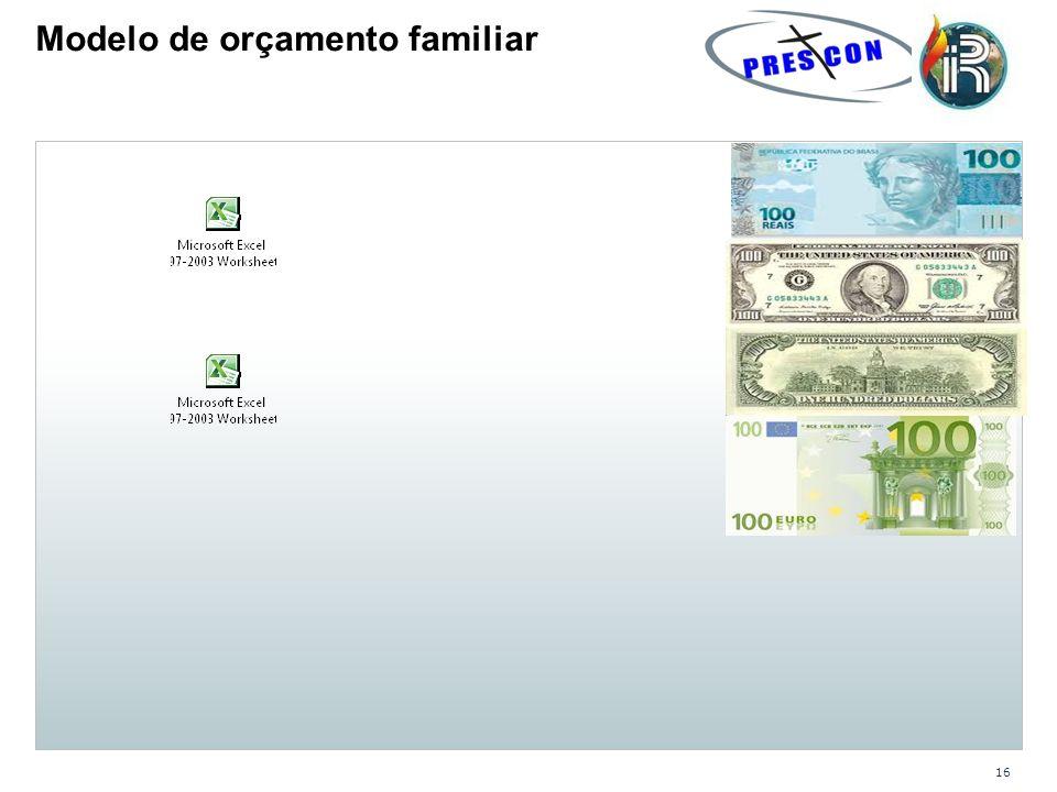 16 Modelo de orçamento familiar