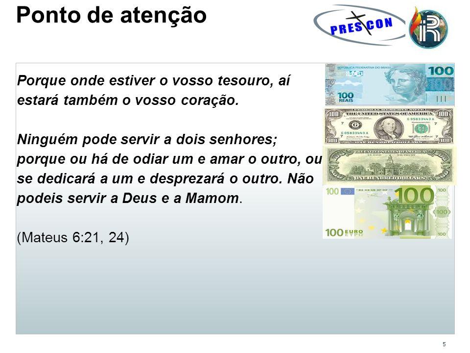 6 Momento de reflexão Quem é o dono do seu dinheiro: Você ou Deus?