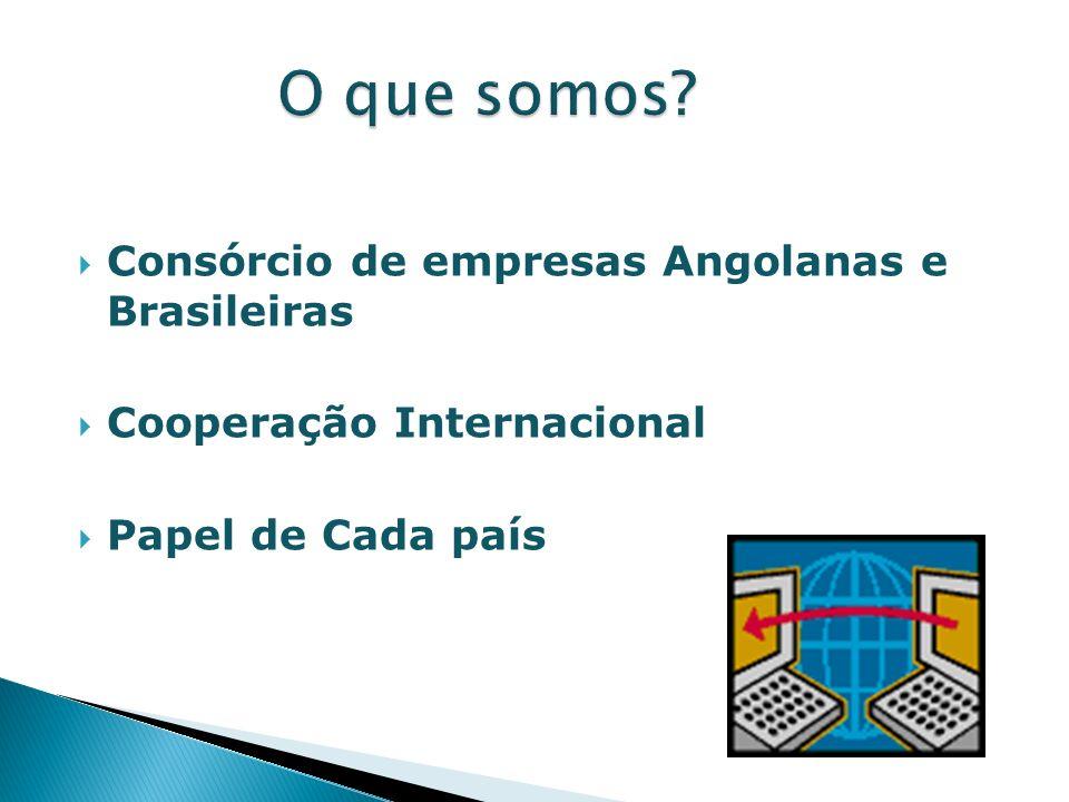 Consórcio de empresas Angolanas e Brasileiras Cooperação Internacional Papel de Cada país