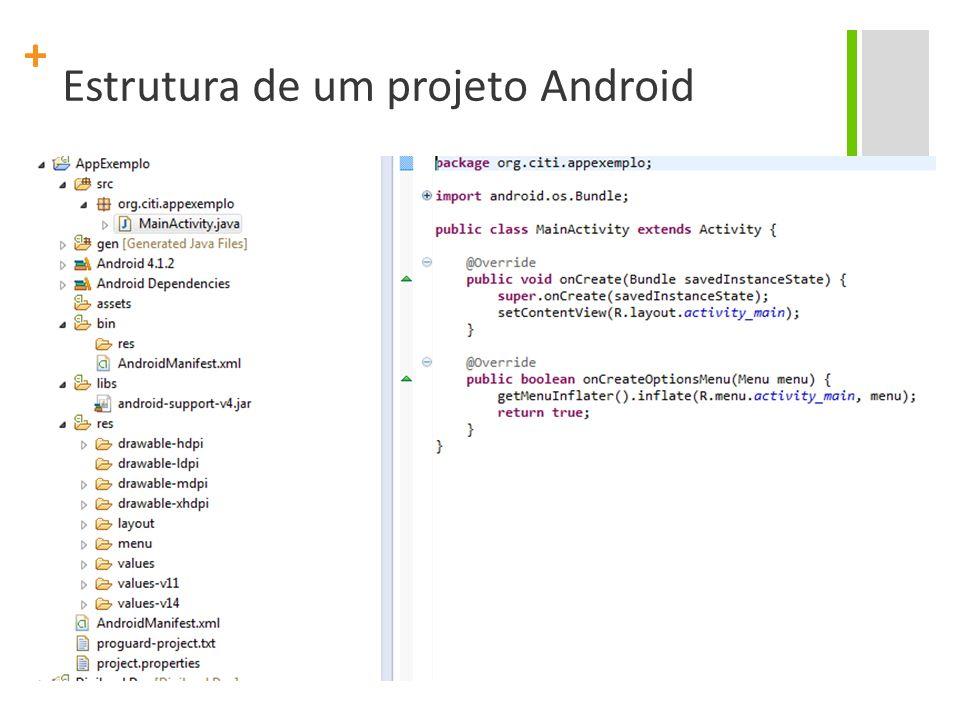 + Estrutura de um projeto Android