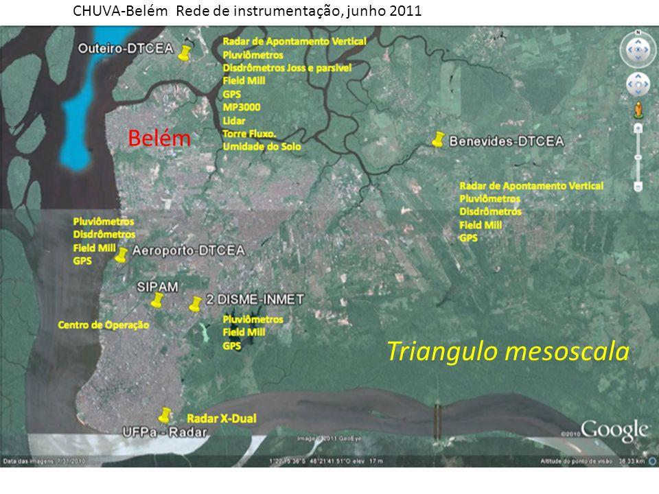 Belém Triangulo mesoscala CHUVA-Belém Rede de instrumentação, junho 2011