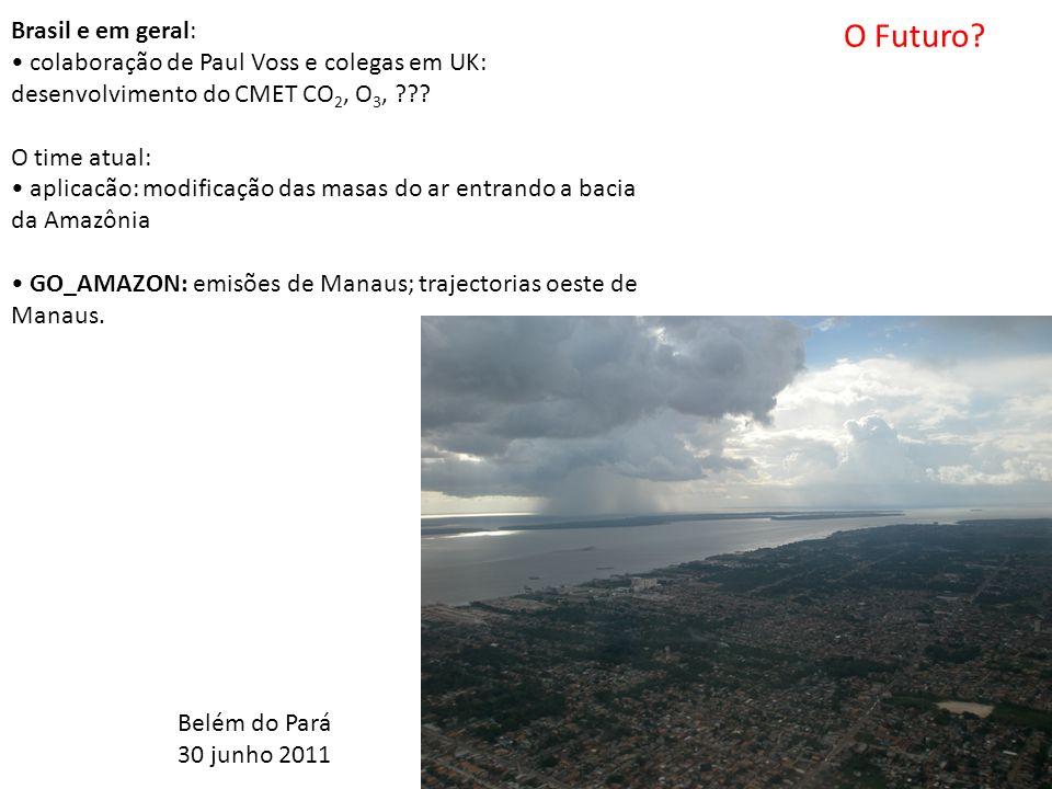 Brasil e em geral: colaboração de Paul Voss e colegas em UK: desenvolvimento do CMET CO 2, O 3, .