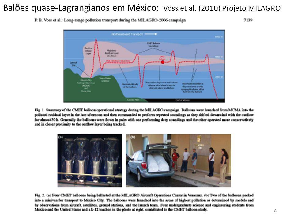 Balões quase-Lagrangianos em México: Voss et al. (2010) Projeto MILAGRO 8