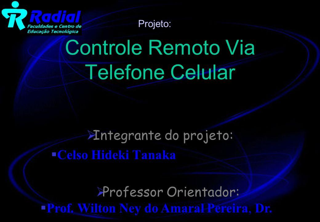 Controle Remoto Via Telefone Celular Integrante do projeto: Celso Hideki Tanaka Professor Orientador: Prof. Wilton Ney do Amaral Pereira, Dr. Projeto: