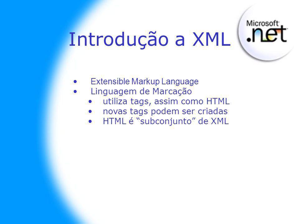 REGRAS PARA TRABALHAR COM TAGS: As tags devem ter marcador de início e fim: conteúdo Exemplo: Microsoft Um par de tags é chamada elemento; Elementos podem conter dados ou outros elementos Um arquivo XML deve conter elementos com o par.