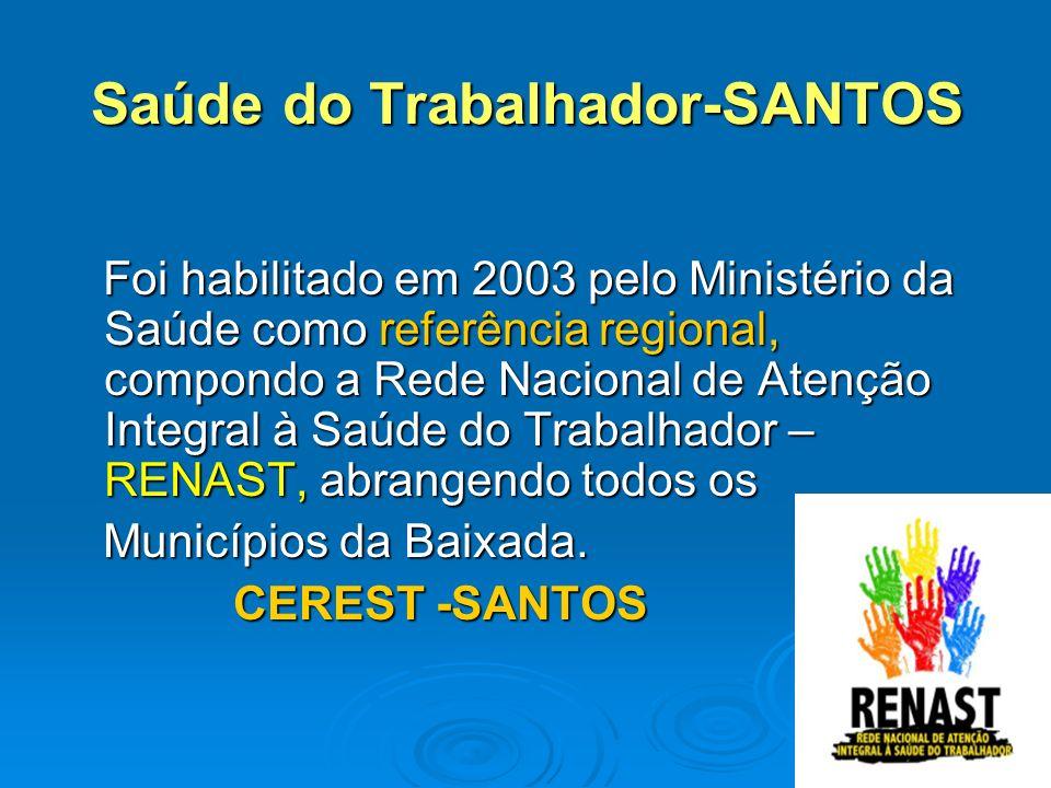 RENAST NO ESTADO DE SÃO PAULO Inicialmente habilitados 34 Centros de Referência Regionais no Estado de São Paulo.