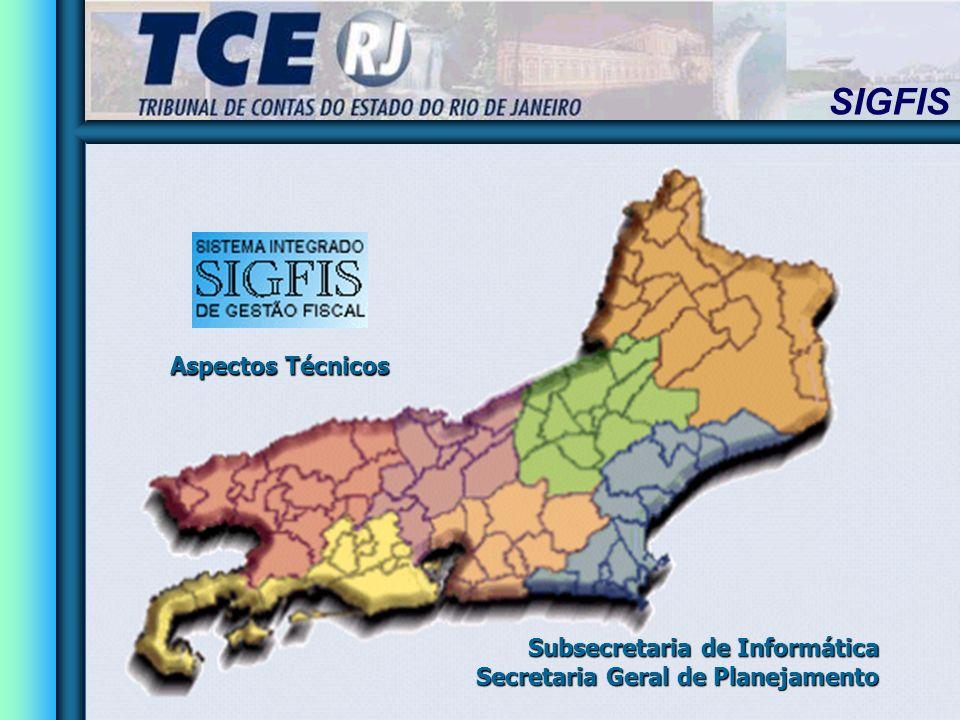 SIGFIS Subsecretaria de Informática Secretaria Geral de Planejamento Aspectos Técnicos