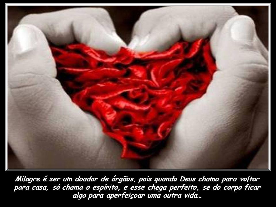 Milagre é quando alguém que amamos, sem querer, ou querendo, despedaça o nosso coração em um fantastilhão de pedaços, e a gente pensa que vai morrer.