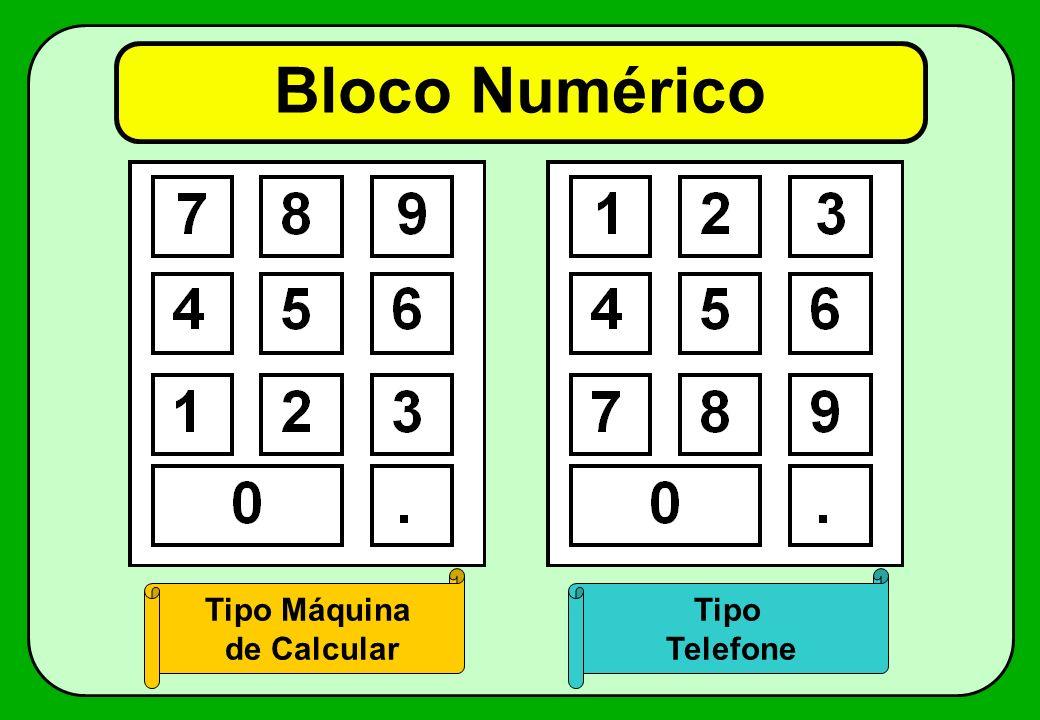 Bloco Numérico Tipo Máquina de Calcular Tipo Telefone