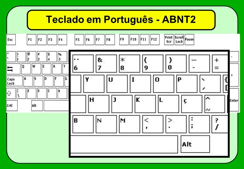 Teclado em Português (internacional)