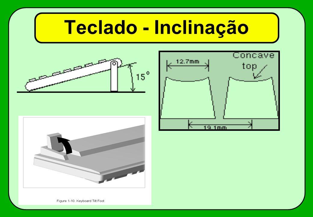 Teclado - Inclinação