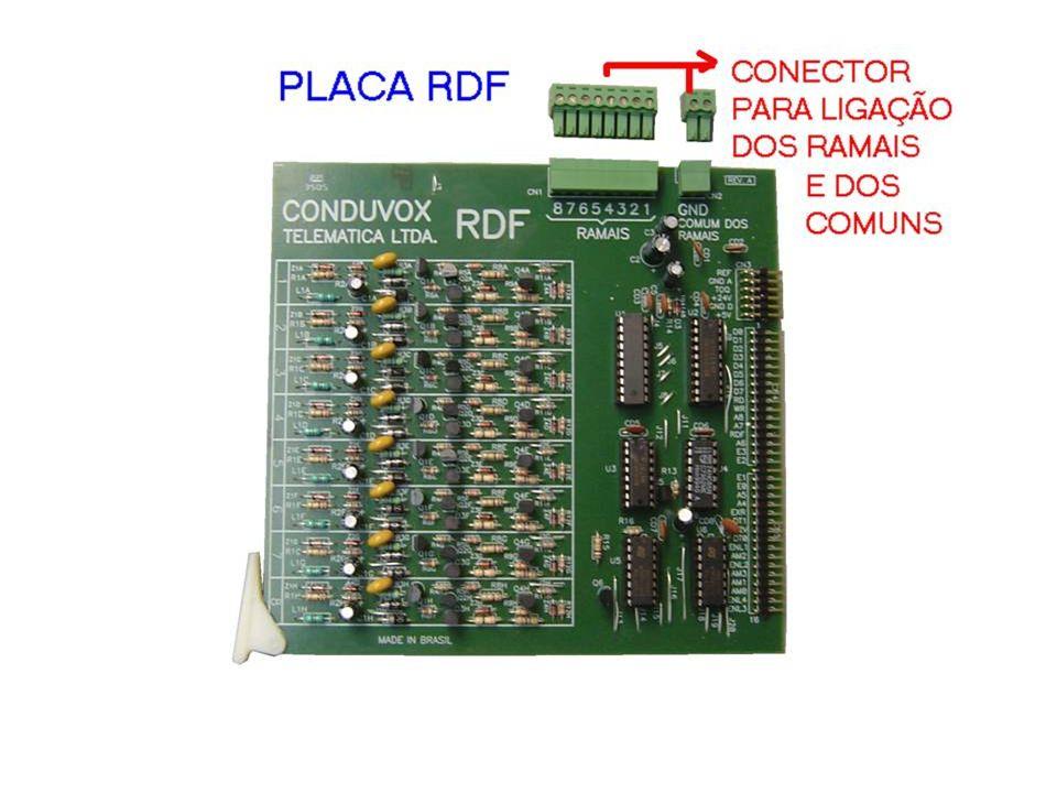 RDF - 4 ENLACES DE CONVERSAÇÃO - 8 RAMAIS DE TELEFONES DESBALANCEADOS - POSSUI 2 CONECTORES PARA INTERLIGAÇÃO DOS COMUMS DOS RAMAIS FALARE