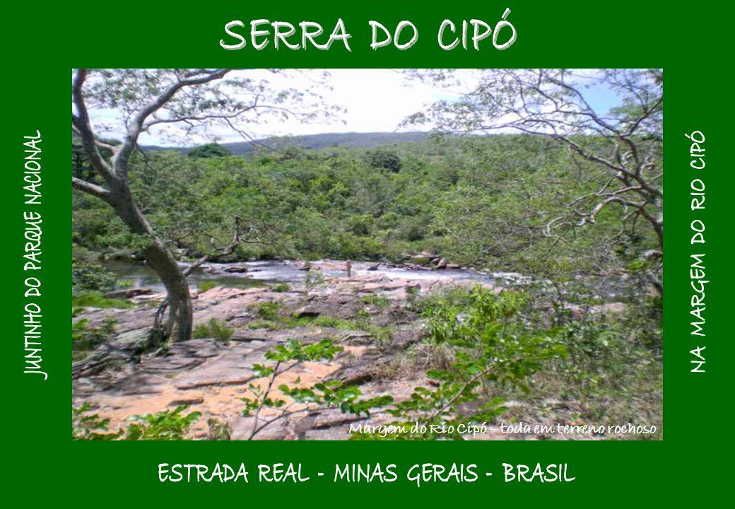 Margem do Rio Cipó – toda em terreno rochoso