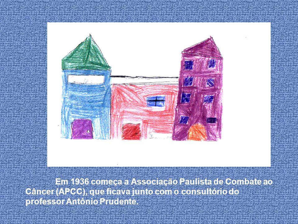 Em 1936 começa a Associação Paulista de Combate ao Câncer (APCC), que ficava junto com o consultório do professor Antônio Prudente.