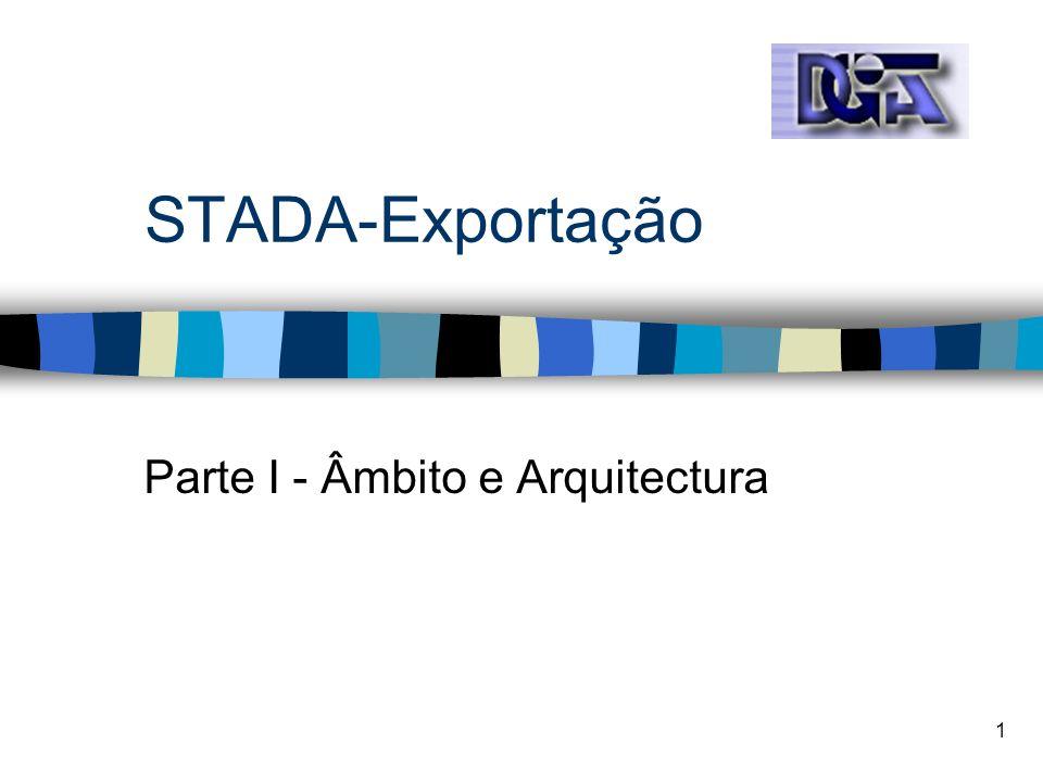 1 STADA-Exportação Parte I - Âmbito e Arquitectura