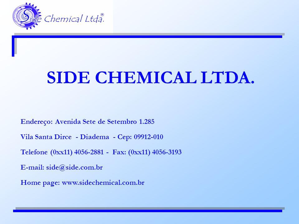 Endereço: Avenida Sete de Setembro 1.285 Vila Santa Dirce - Diadema - Cep: 09912-010 Telefone (0xx11) 4056-2881 - Fax: (0xx11) 4056-3193 E-mail: side@
