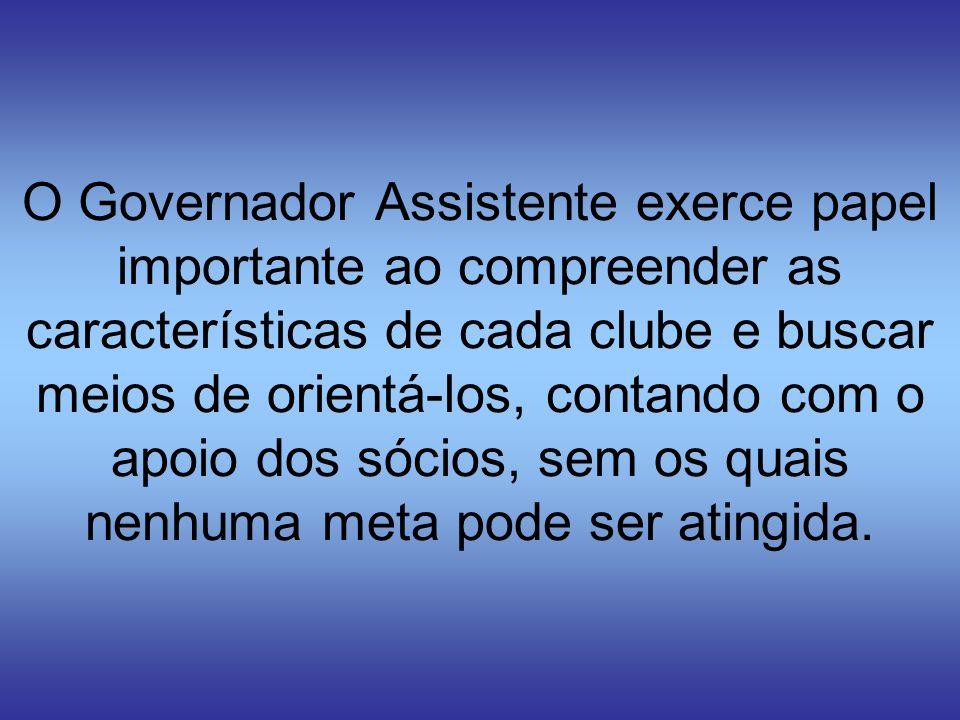 O Governador Assistente exerce papel importante ao compreender as características de cada clube e buscar meios de orientá-los, contando com o apoio do