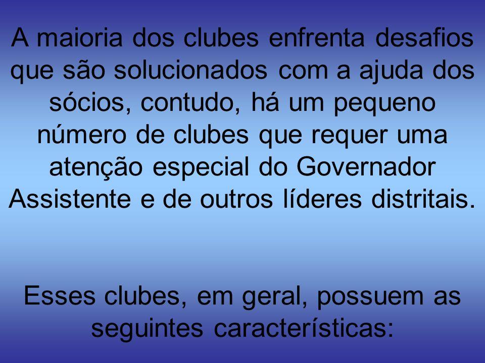 A maioria dos clubes enfrenta desafios que são solucionados com a ajuda dos sócios, contudo, há um pequeno número de clubes que requer uma atenção esp