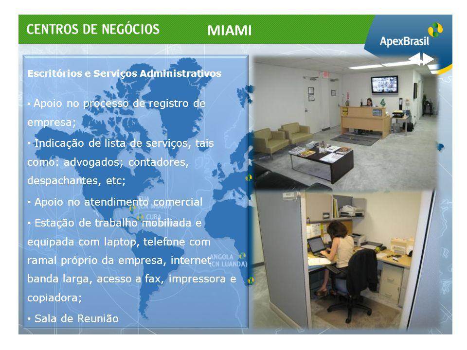 Escritórios e Serviços Administrativos Apoio no processo de registro de empresa; Indicação de lista de serviços, tais como: advogados; contadores, des