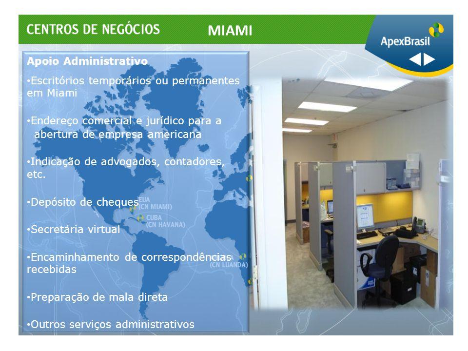 Apoio Administrativo Escritórios temporários ou permanentes em Miami Endereço comercial e jurídico para a abertura de empresa americana Indicação de a