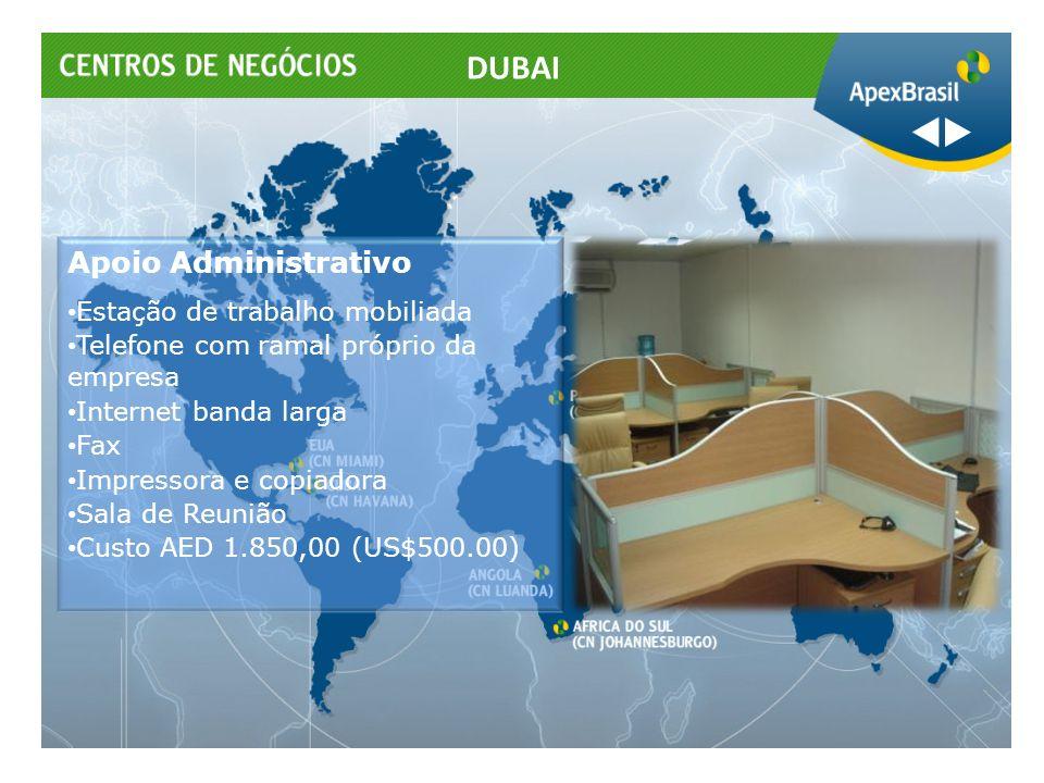 Apoio Administrativo Estação de trabalho mobiliada Telefone com ramal próprio da empresa Internet banda larga Fax Impressora e copiadora Sala de Reuni