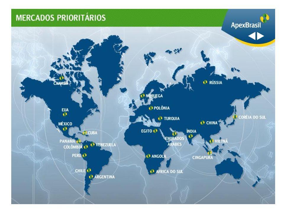 Apoiar a internacionalização de empresas brasileiras.