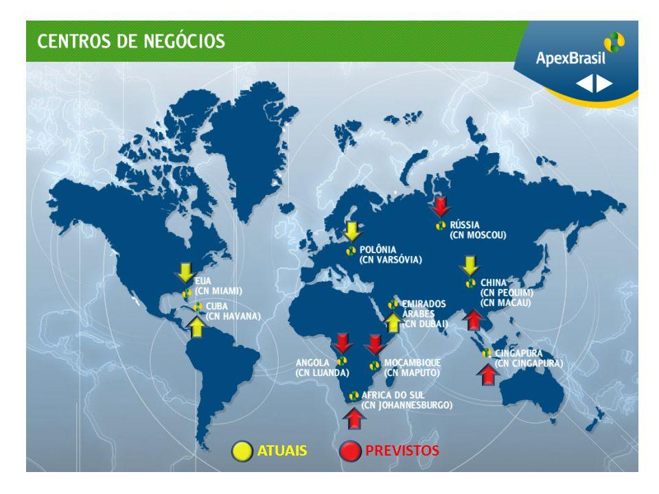 Ásia América do Norte Europa AL & Caribe África & OM Havana Miami Varsóvia Pequim Dubai Apex Internacional
