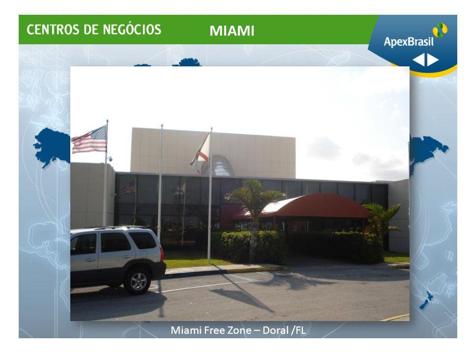 Showroom O Centro de Negócios Miami da Apex-Brasil coloca à disposição de empresas brasileiras uma estrutura de showroom para atendimento de clientes, que lhes permita manter um mostruário de produtos.