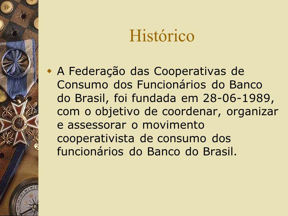 Histórico A Federação das Cooperativas de Consumo dos Funcionários do Banco do Brasil, foi fundada em 28-06-1989, com o objetivo de coordenar, organiz